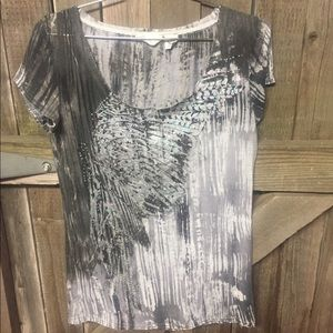 Miss Me white and gray blouse. Size XL